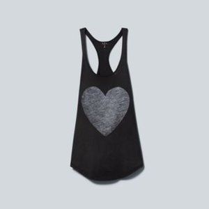 Talula washed down racerback heart tank - size xs